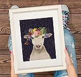Ziegen-Druck – Ziegen-Poster mit Ziegenmalerei,