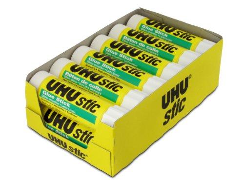 UHU Glue Stick, 1.41 oz, White, Pack of 12 (99655)
