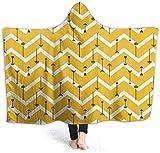 yuhuandadi Decke mit Kapuze für Erwachsene Arrows of Cupid Layer Warme Plüschdecke (mit Kapuze) fashion22365