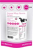 PINK SUN Whey Protein Isolate Powder Unflavoured 420g (92% Protein) Soy Free Grass Fed Gluten Free No Additives Vegetarian Undenatured Non GM Unsweetened Natural Whey UK