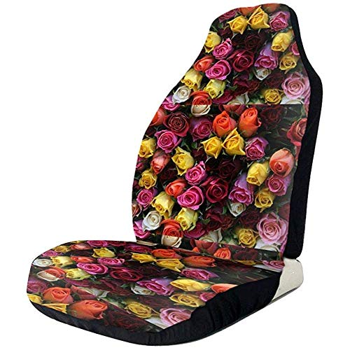 Fall Ing Bright_Roses_Flower Protectores de asiento Cubierta de asient