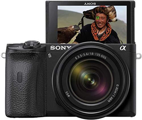 Sony Alpha 6600 E-Mount Systemkamera (24 Megapixel, 4K Video, längere Akkulaufzeit, opt. Bildstabilisierung, 0.02 Sek. Echtzeit-Autofokus, OLED Sucher, inkl. SEL18135 Objektiv) schwarz