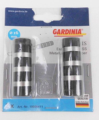 Kenwood Gardinia-Endknopf,Vitess,Metall Silber-schwarz,für Stange 16 mm Durchmesser