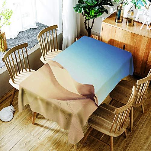 Tafelkleed, eenvoudig afdrukken, geen rimpel, Desert rechthoekig salontafel-tafelkleed, geen was-, olie- en hittepreventie, 55X78 inch