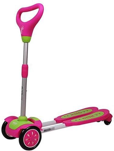 Scooter de ScintilleHommest de ScintilleHommest de ScintilleHommest, glissière tri de triporteur de Scooter d'oscillation de Vitesse de poussée Pliable de Roues pour l'enfant 3-6 Ans