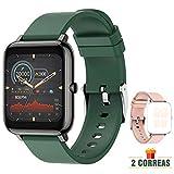 ZONMAI Smartwatch Hombre, Reloj Inteligente Mujer Impermeable IP67, Pulsera Actividad Inteligente con Correa Reemplazable, Pulsómetro, Monitor de Sueño, Calorías Podómetro para Android iOS
