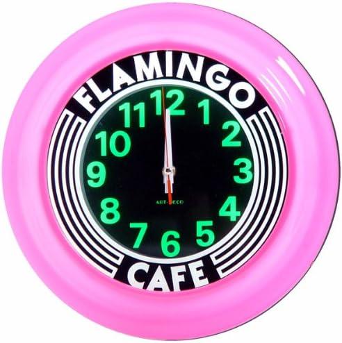 Flamingo El Paso Mall Cafe Art Clock Seattle Mall Deco