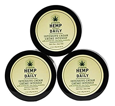 Hemp Daily Intensive Cream 1.7oz Original 3 Pack from Hemp Daily