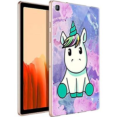 ZhuoFan Funda para Samsung Galaxy Tab A7 2020, Case Carcasa Silicona Gel TPU Transparente con Dibujos Antigolpes Smart Cover Piel de Protector Ligera Tableta para Samsung Tab A7 2020, Unicornio