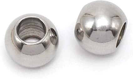 10 pieces Jewelry Supplies Rondelle Beads Hole 3.5mm Tube Beads 6x6mm Antique Silver Spacer beads
