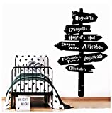 Gran 57Cmx93Cm Harry Guideboard Etiqueta De La Pared Para Niños Decoración De La Habitación Vinilo Calcomanías De Arte Niños Decoración Del Dormitorio Potter Mural