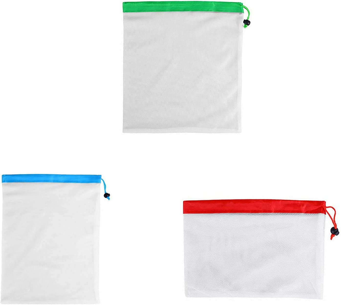 Max 48% It is very popular OFF 15Pcs Heavy Duty Reusable Mesh Barcode Se Bags Produce Scanable