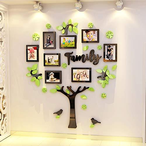 Fotobehang Sticker, met volledige grootte opknoping sjabloon muur montage ontwerp familie boom fotolijst kinderen kamer decoratie