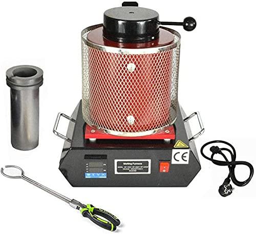 wsbdking Horno de fusión eléctrico automático, 1 kg 2 kg 3 kg de fusión de Oro 2102 ° F máquina de fusión Digital máquina de Calentamiento de la máquina de Calentamiento refino para Metales Preciosos