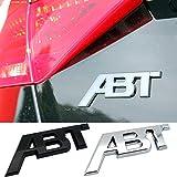 NsbsXs Adesivo per Auto,per Audi S1 QS7 TT RS3 SQ2 RS6 RS7 SQ7 A3 RS4 RS5 SQ8 A8L S6 A4 Q5 A1 S5 S4 A5 Car Styling Tronco ABT Logo Emblema Adesivo Metallo