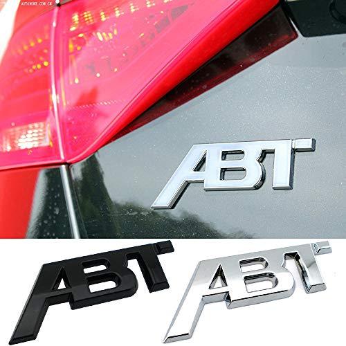 NsbsXs Interior automotriz,para Audi S1 QS7 TT RS3 SQ2 RS6 RS7 SQ7 A3 RS4 RS5 SQ8 A8L S6 A4 Q5 A1 S5 S4 A5 Car Styling Trunk ABT Logo Emblem Sticker Metal