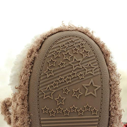 TEELONG Womens Girls Slippers, 2019 Warm Winter Slippers Christmas Indoor Home Shoes Cute Soft Plush Ball Cotton Shoe Ladies Comfortable Slippers Boots Casual Flat Shoes Brown