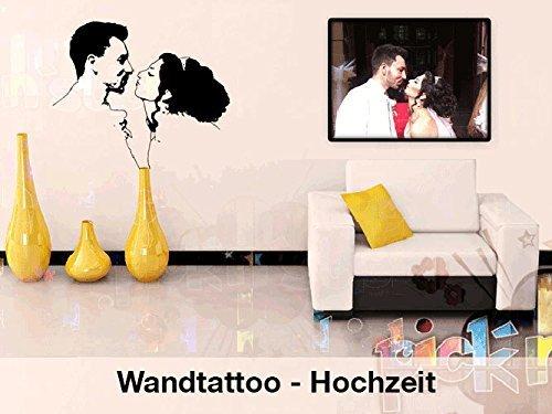 Hochzeit Wandtattoo 100 Individuell Nach Foto Vorlage Wunschtext Geschenk Hochzeitsgeschenk Aufkleber Amazon De Handmade