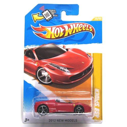 Hot Wheels 2012 New Models #25/50 025 Ferrari 458 Spider Red Convertible