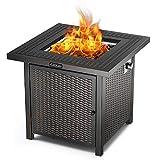 TACKLIFE Feuerstelle, Gas Feuerstelle, 71cm x 71cm x 64cm, 14,6KW, Saubere Energie, ideale Dekoration für den Hausgarten