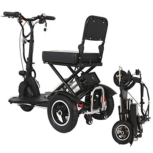 Xiaotian Elektrischer Mobilitätsroller Für Erwachsene, Faltbarer 3-Rad-Stolz Leichte Elektrorollstühle Zusammenklappbare Und Kompakte Dreiräder Für Senioren Mit Behinderung