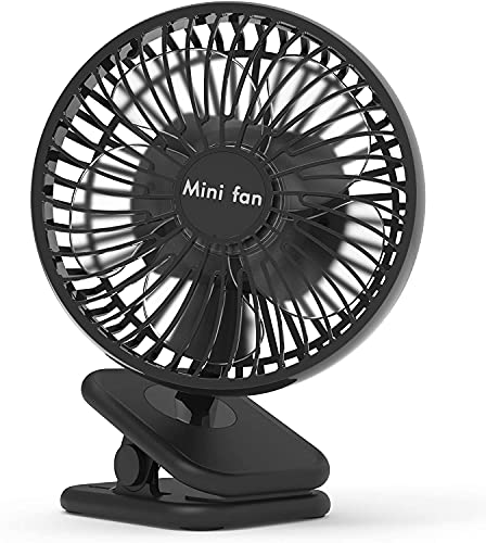 10000mAh Clip On Fan, 6-Inch Battery Operated Fan with Max 53H Long Work Hours for Power Outage, 4 Speeds, Fast Air Circulation, Quiet USB Desk Fan with Sturdy Clamp for Camping, Treadmill, Office