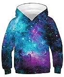 ALISISTER Hoody Kinder 3D Galaxy Hoodie Jungen Mädchen Kapuzenpullover Sweatshirt Langarm Casual Sport Shirts Tops L