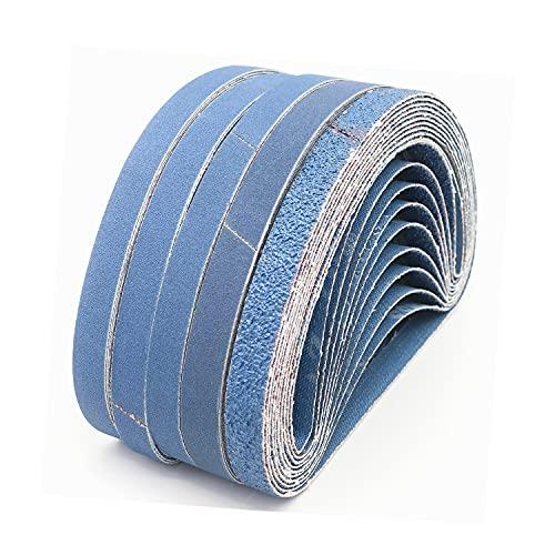 Bandas de Lija,13 x 457 mm, 10x60/80/100/120/240/320 arena gruesa, para paño abrasivo de metales pesados Black & Decker Utilizada para desbaste, Eliminación de Pintura y Pulido 60 bandas abrasivas