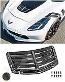 Extreme Online Store Replacement for 2014-2019 Corvette C7 Z06 GM Factory Style Carbon Fiber Front Hood Vent Louver Cover VENT-251-BKCF