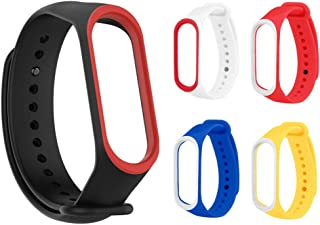 Rapidotzz Pack of 5 Straps/Belts/Bands Compatible only for Xiaomi MI Band 3 | Mi3 (Set 2)