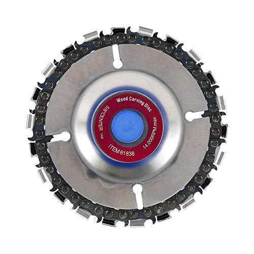 Hoja de sierra circular 103 mm, disco de sierra circular para madera 22 dientes, disco de motosierra para amoladora angular speedcutter, disco de escultura sobre madera para cortar (morado)