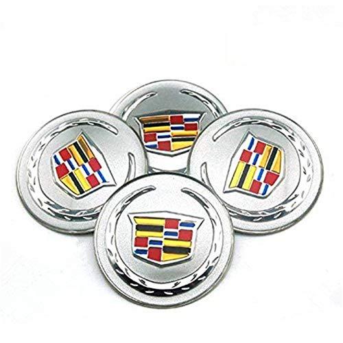 JXHDKJ 4pcs C083 65mm Car Styling Accessories Emblem Badge Sticker Wheel Hub Caps Centre Cover for Cadillac ATS CTS EXT SRX XTS XLR