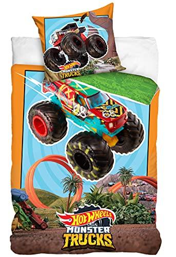 Hot Wheels Juego de cama Monster Trucks MT202007