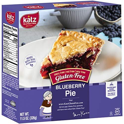 Katz Gluten Free Personal Size Blueberry Pie   Dairy Free, Nut Free, Soy Free, Gluten Free   Kosher (1 Pack of 1 Pie, 11.5 Ounce)