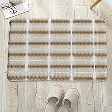 Alfombrilla de baño antideslizante, para baño o ducha,Resumen, inspiraciones étnicas en la cultura árabe africana Ar, alfombra de suelo absorbente, para sala de estar, sofá, cojín, caucho, 60 x 100 cm