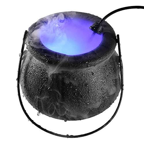 shangji Mist Maker, 12 LED Mister Fogger MáQuina Humo Atomizador Humidificador Aire para Halloween U Otra DecoracióN y Regalos Fiestas TemáTicas