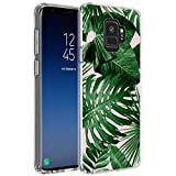 Tropical Palm Leaves Samsung Galaxy S9 Case Customized Design Anti-Scratch Flexible Shock Absorption Soft TPU Protective Phone Case For Samsung Galaxy S9-Clear