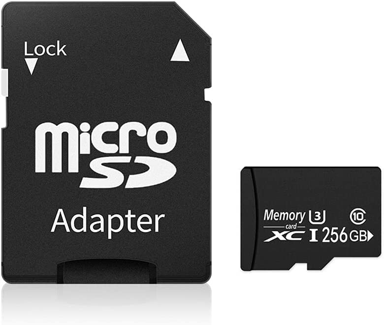Memory Card 256GB,Fast Reading Rate and Large Capacity,Micro SD Card with SD Card Adapter,high Compatibility for Different Types of Devices