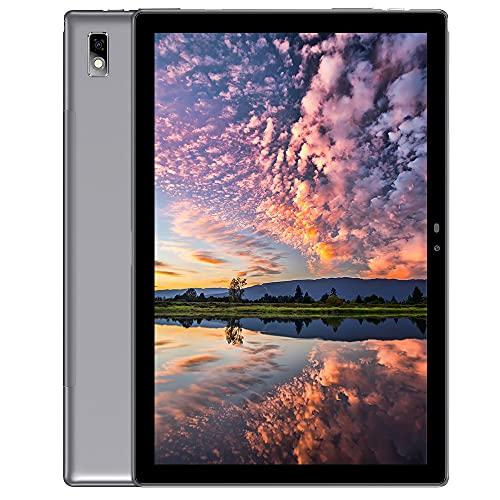 Blackview Tab9 4G LTE + WiFi Tablet mit 10,1 FHD, Android 10, 4 GB RAM + 64 GB ROM, 128 GB erweiterbar, Octa-Core, 7480mAh Akku, 13 MP + 5 MP, 1920 * 1200, Dual SIM/GPS/Bluetooth/Face ID/OTG