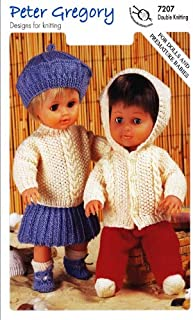 Peter Gregory Double Knitting DK Pattern for Dolls & Premature Baby Outfits (7207)