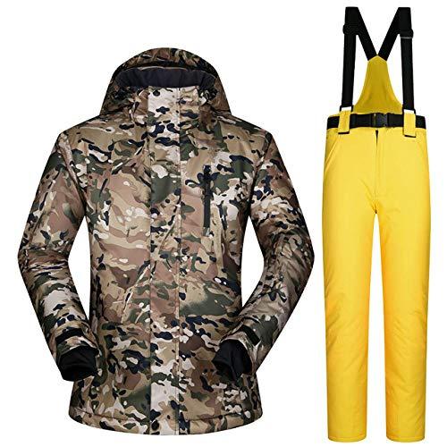 MEOBHI Skipakken voor heren, winter en winter kleding heren jacks broek winddicht waterdicht ademend wintersets ski- en snowboarpakken