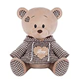 Goldmind10,Adorable Brown Teddy Bear Stuffed Animal Toy for All Ages,Soft & Cuddly Plush Teddy Bear ,Great Presents for Baby Showers, Birthdays, Valentines or Christmas.