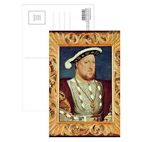 Unbekannt Hans Postkarte King Henry VIII (Öl auf Eichenholzplatte), 15,2 x 10,2 cm, 8 Stück