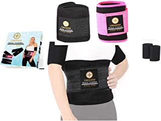 CONVARSE 5 in 1 Turkish Waist Trimmer Same Belt Covers (XS to XL) with Arm Trimmers Latex-Free Neoprene Pro Series Sweat B...