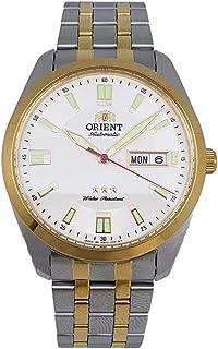 ساعة اورينت اتوماتيكية مقاومة للماء بطبقة مزدوجة لون الفولاذ المقاوم للصدأ SAB0C008W8