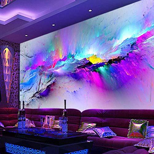 Persoonlijkheid Abstract Overdrijving Fresco,Restaurant Club KTV Bar 3D Wallpaper Kleurrijke Inkjet Modern Decor Mural 208 cm (B) x 146 cm (H)