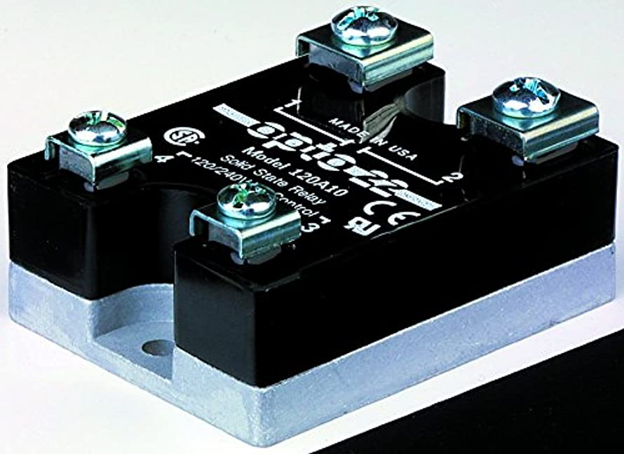 240D25-17 - Solid State Relay, 25 A, 280 VAC, Panel, Screw, DC Switch (240D25-17)