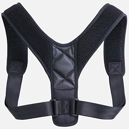 WANGRUIMEI Haltungskorrektur für Männer und Frauen, Lendenwirbelstütze mit doppeltem, bequemem, verstellbarem Gurtband, Schulterstütze für Kinder, Schmerzlinderung für Rücken, Schulter und Nacken, L