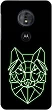 AMZER Slim Handcrafted Designer Snap on Hard Shell Cases Skin for Motorola Moto G6 Play - Clever Fox - Hunter Green