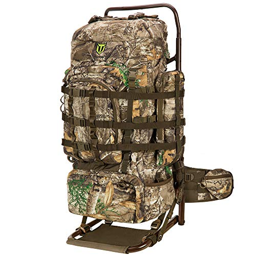 TIDEWE Hunting Backpack 5500cu with Frame and Rain Cover for Bow Rifle Pistol